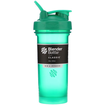Blender Bottle, Classic With Loop, Emerald Green, 28 oz (828 ml)