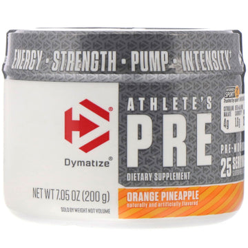 Dymatize Nutrition, Athlete's Pre, Pre-Workout, Orange Pineapple, 7.05 oz (200 g)