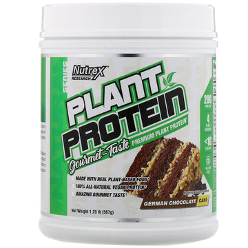 Nutrex Research, Natural Series, Plant Protein, German Chocolate Cake, 1.25 lb (567 g)