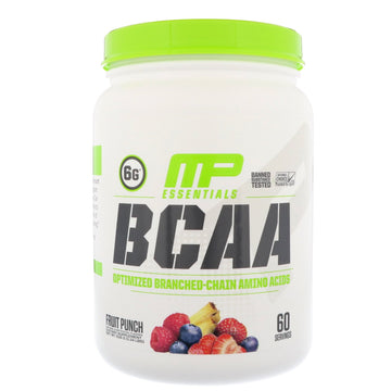 MusclePharm, Essentials, BCAA, Fruit Punch, 1.14 lbs (516  g)