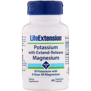 Life Extension, Potassium with Extend-Release Magnesium, 60 Vegetarian Capsules