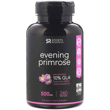 Sports Research, Evening Primrose, 500 mg, 240 Softgels