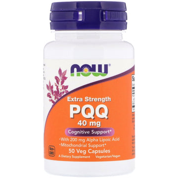 Now Foods, Extra Strength PQQ, 40 mg, 50 Veg Capsules