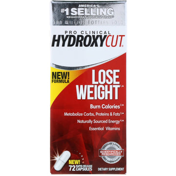 Hydroxycut, Pro Clinical Hydroxycut, Lose Weight, 72 Rapid-Release Capsules
