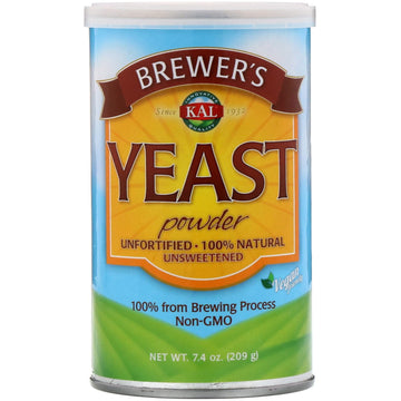 KAL, Brewer's Yeast Powder, Unsweetened, 7.4 oz (209 g)