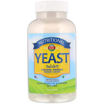 KAL, Nutritional Yeast, 500 Tablets