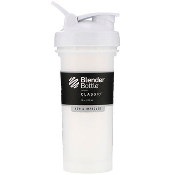 Blender Bottle, Classic With Loop, White, 28 oz (828 ml)
