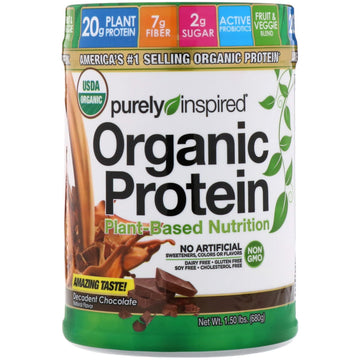 Purely Inspired, Organic Protein, Plant-Based Nutrition, Decadent Chocolate, 1.5 lbs (680 g)