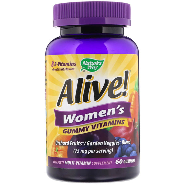 Nature's Way, Alive! Women's Gummy Vitamins, Great Fruit Flavors, 60 Gummies