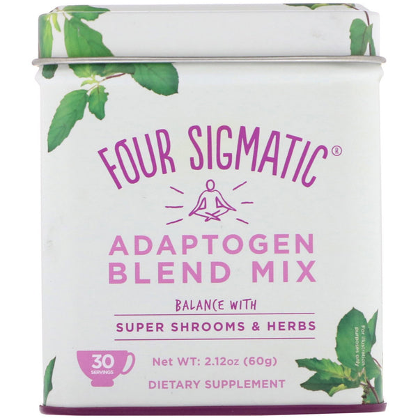 Four Sigmatic, Adaptogen Blend Mix, Balance with Super Shrooms & Herbs, 2.12 oz (60 g) - The Supplement Shop