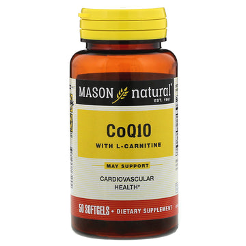 Mason Natural, CoQ10 with L-Carnitine, 50 Softgels