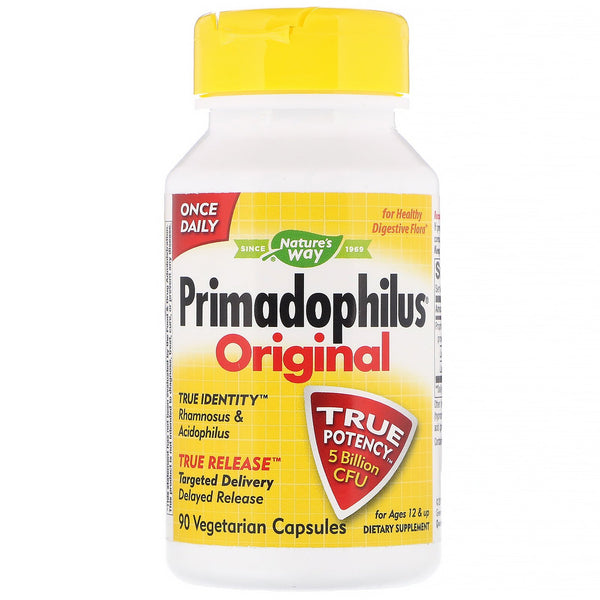 Nature's Way, Primadophilus, Original, Ages 12 & Up, 5 Billion CFU, 90 Vegetarian Capsules - The Supplement Shop