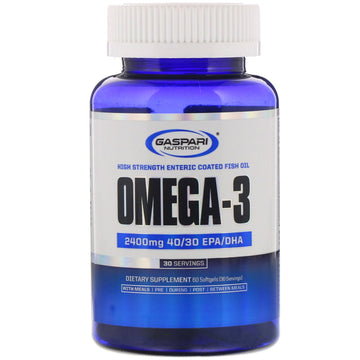 Gaspari Nutrition, Omega-3, 2,400 mg, 60 Softgels