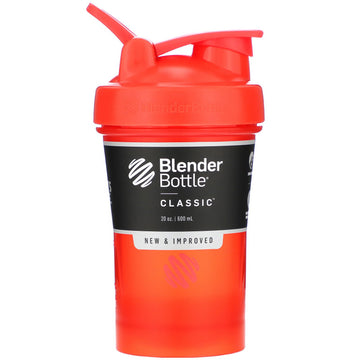 Blender Bottle, Classic With Loop, Red, 20 oz