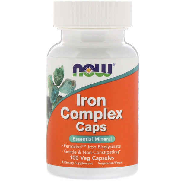 Now Foods, Iron Complex Caps, 100 Veg Capsules