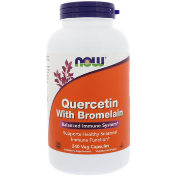 Now Foods, Quercetin with Bromelain, 240 Veg Capsules