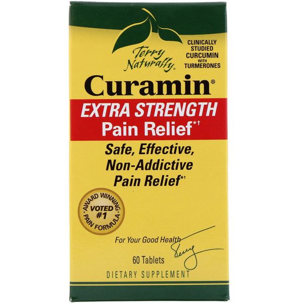 EuroPharma, Terry Naturally, Curamin, Extra Strength Pain Relief, 60 Tablets - The Supplement Shop