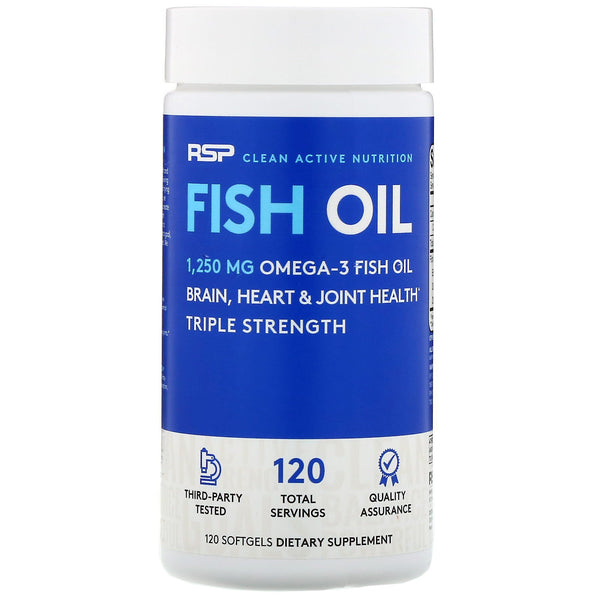 RSP Nutrition, Fish Oil, 120 Softgels - The Supplement Shop