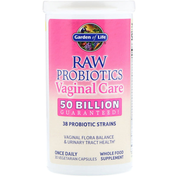 Garden of Life, RAW Probiotics Vaginal Care, 30 Vegetarian Capsules