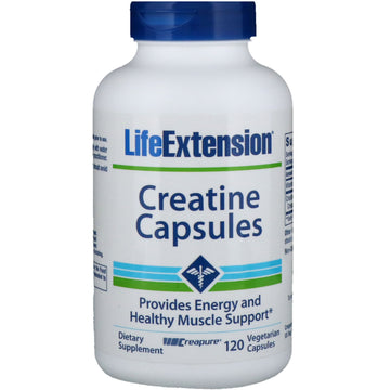 Life Extension, Creatine Capsules, 120 Vegetarian Capsules