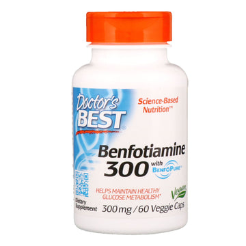 Doctor's Best, Benfotiamine with BenfoPure, 300 mg, 60 Veggie Caps