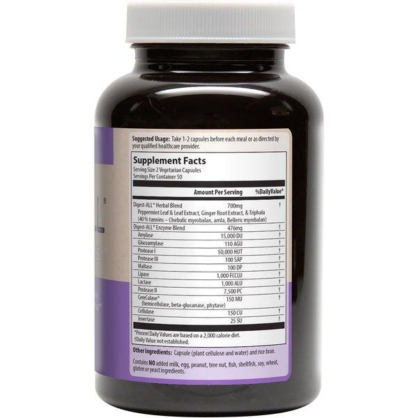 MRM, Digest-All, 100 Vegetarian Capsules