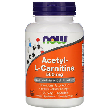 Now Foods, Acetyl-L-Carnitine, 500 mg, 100 Veg Capsules