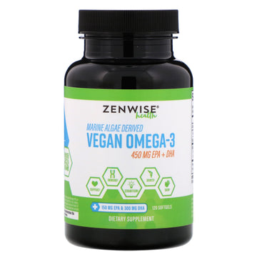 Zenwise Health, Marine Algae Derived Vegan Omega-3, 120 Softgels