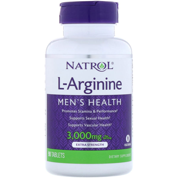 Natrol, L-Arginine, 3,000 mg, 90 Tablets