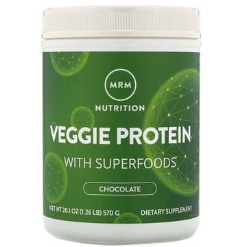 MRM, Nutrition, Veggie Protein with Superfoods, Chocolate, 20.1 oz (570 g)