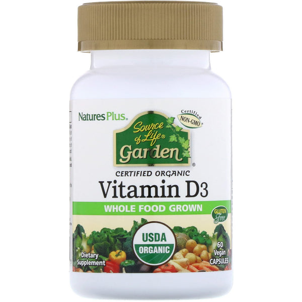 Nature's Plus, Source of Life, Garden, Vitamin D3, 60 Vegan Capsules