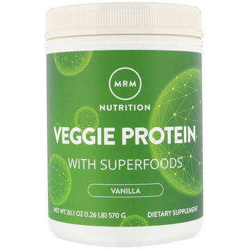 MRM, Nutrition, Veggie Protein with Superfoods, Vanilla, 20.1 oz (570 g)