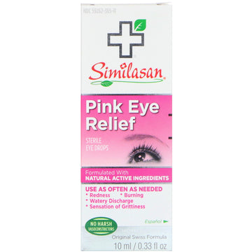 Similasan, Pink Eye Relief, Sterile Eye Drops, 0.33 fl oz (10 ml)