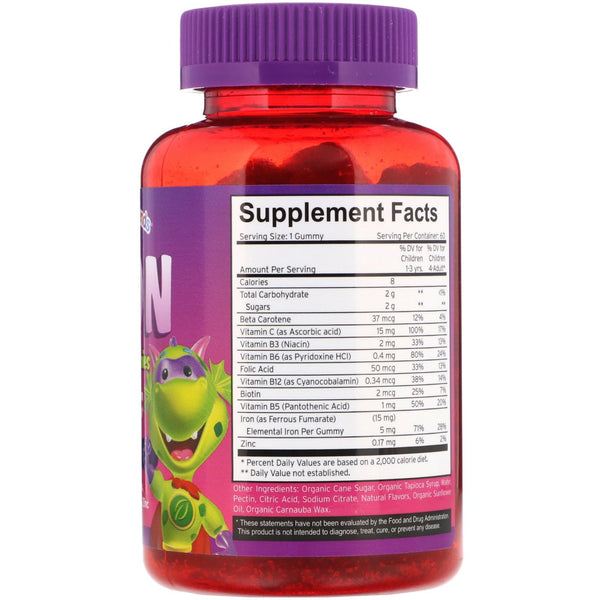 Vitamin Friends, Iron Vegan Gummies, Strawberry Flavor, 60 Pectin Gummies - The Supplement Shop