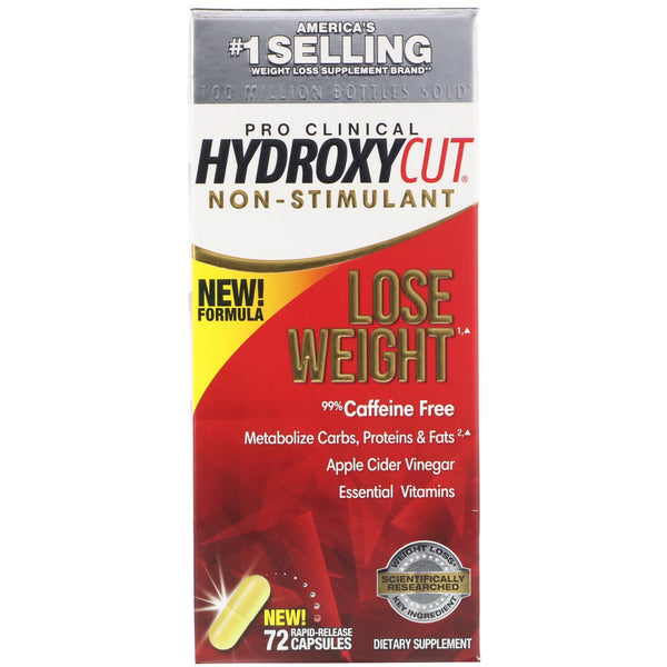 Hydroxycut, Pro Clinical Hydroxycut, Non-Stimulant, 72 Rapid-Release Capsules