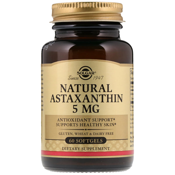 Solgar, Natural Astaxanthin, 5 mg, 60 Softgels