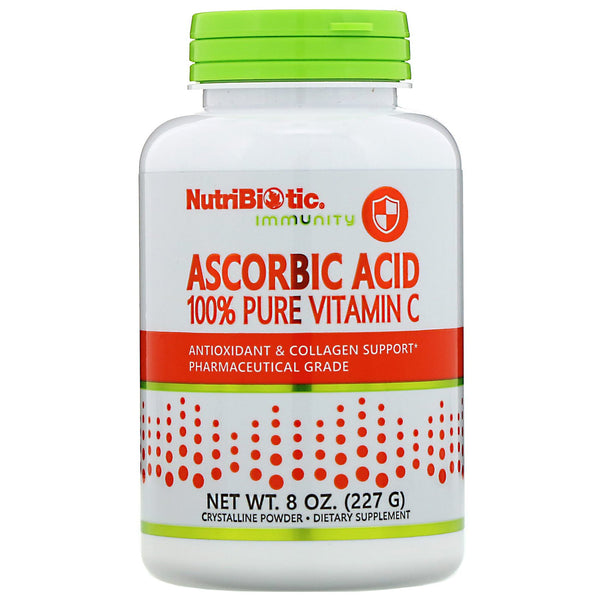 NutriBiotic, Immunity, Ascorbic Acid, 100% Pure Vitamin C, Crystalline Powder, 8 oz (227 g)