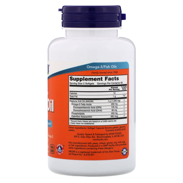 Now Foods, Neptune Krill Oil, 500 mg, 120 Softgels - The Supplement Shop
