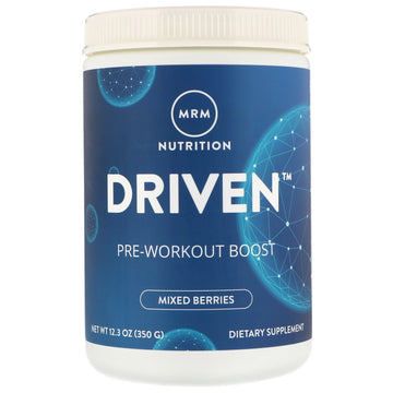 MRM, Driven, Pre-Workout Boost, Mixed Berries, 12.3 oz (350 g)