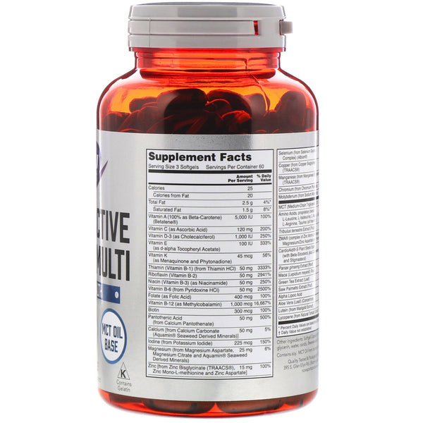 Now Foods, Sports, Men's Active Sports Multi, 180 Softgels - The Supplement Shop