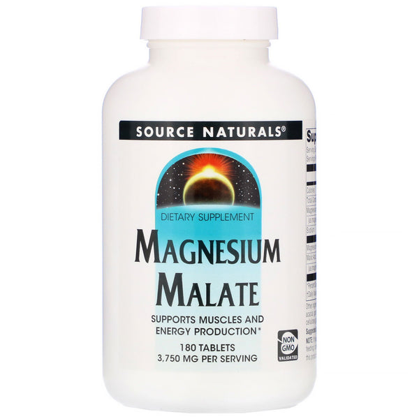Source Naturals, Magnesium Malate, 3,750 mg, 180 Tablets