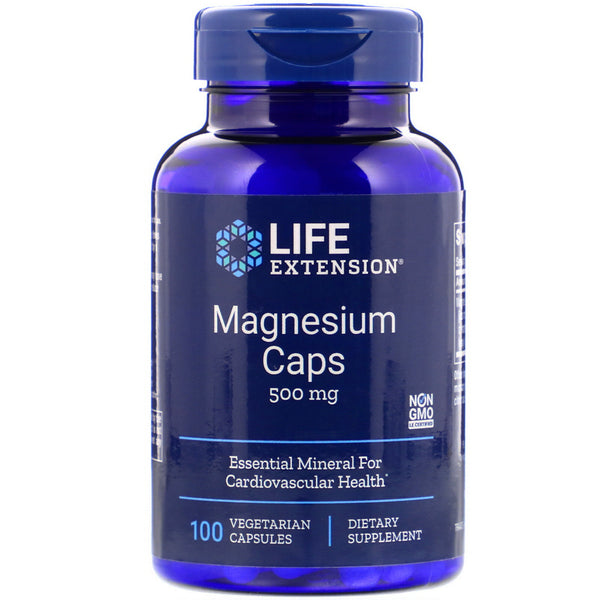 Life Extension, Magnesium Caps, 500 mg, 100 Vegetarian Capsules