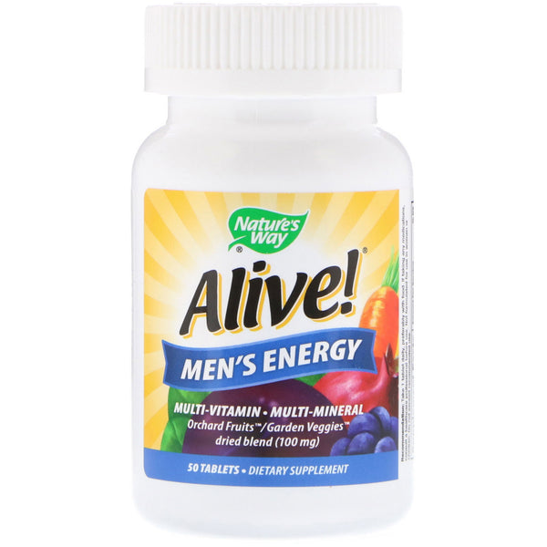 Nature's Way, Alive! Men's Energy, Multivitamin-Multimineral, 50 Tablets