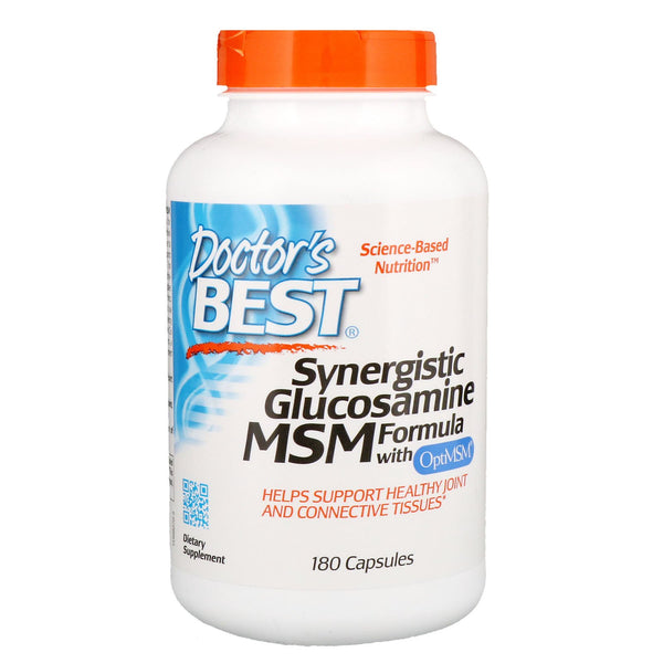 Doctor's Best, Synergistic Glucosamine MSM Formula, with OptiMSM,  , 180 Capsules