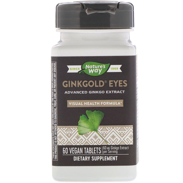 Nature's Way, Ginkgold Eyes, 60 Vegan Tablets