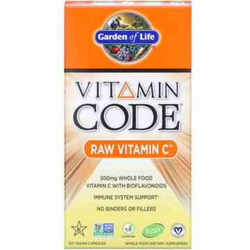 SALE Garden of Life, Vitamin Code, RAW Vitamin C, 500 mg, 120 Vegan Capsules