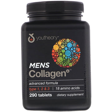 Youtheory, Mens Collagen, Advanced Formula, 290 Tablets