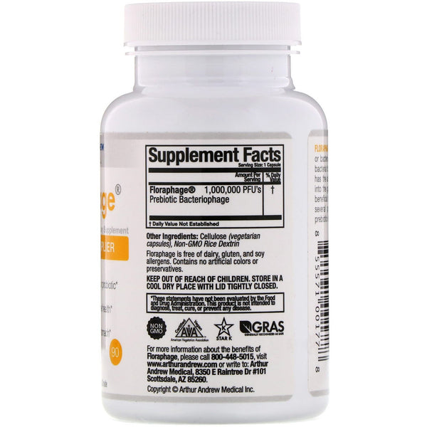 Arthur Andrew Medical, Floraphage, 90 Capsules - The Supplement Shop
