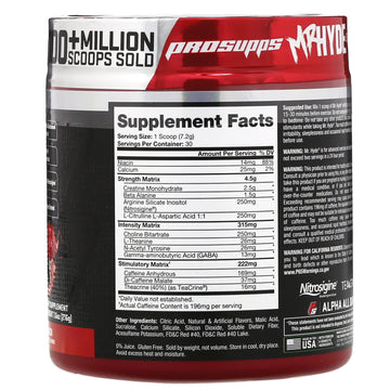 ProSupps, Mr. Hyde, Signature Pre Workout. Lollipop Punch, 7.6 oz (216 g)