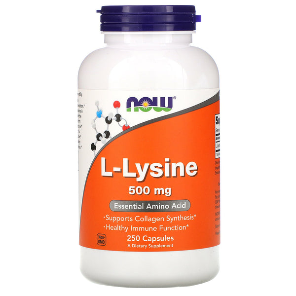 Now Foods, L-Lysine, 500 mg, 250 Capsules